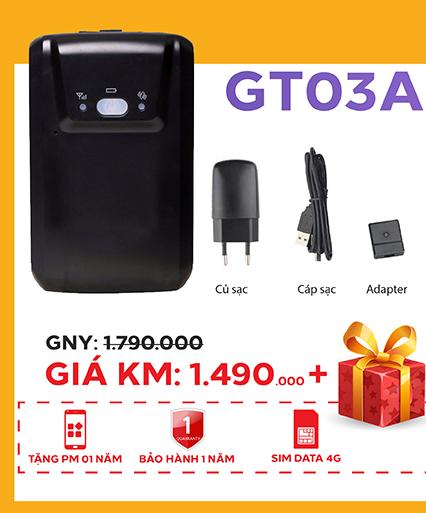 Định vị không dây chạy pin GT03A