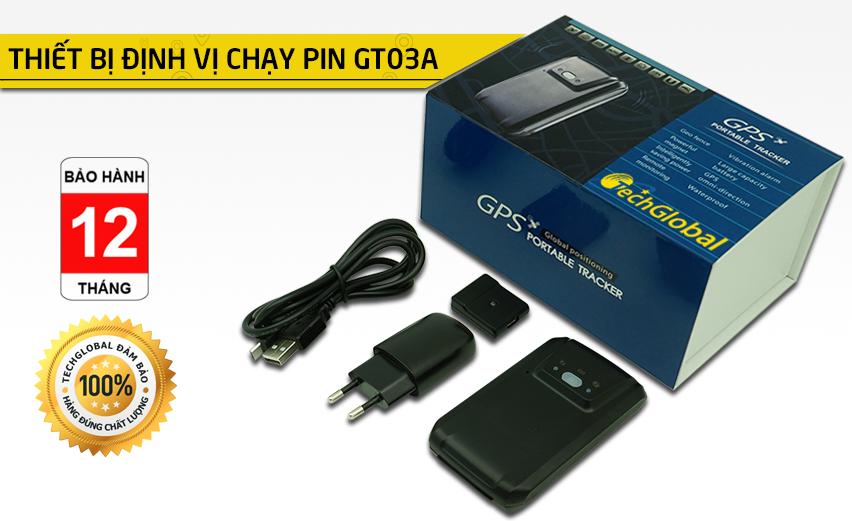 Thiết bị định vị chạy pin GT03A