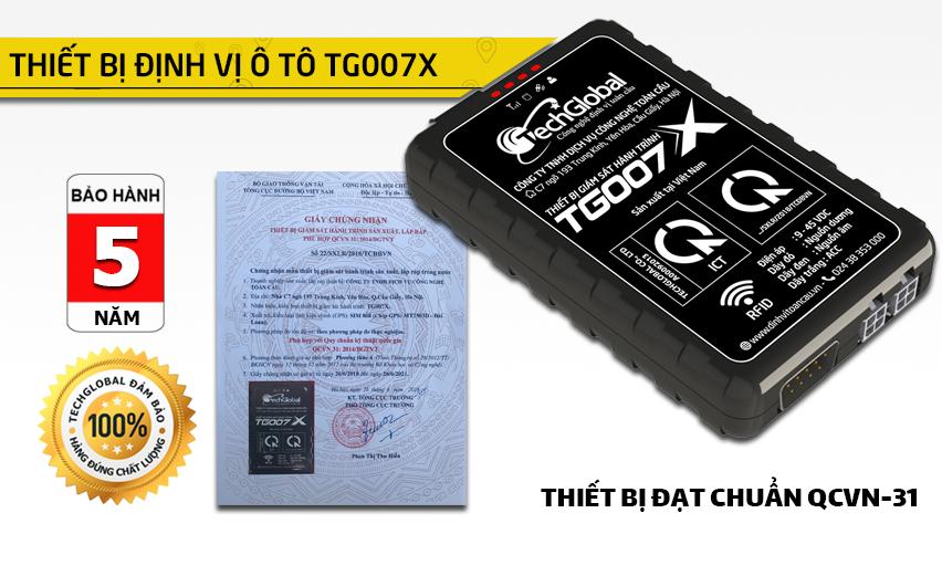 Thiết bị định vị ô tô TG007x đạt chuẩn bộ GTVT