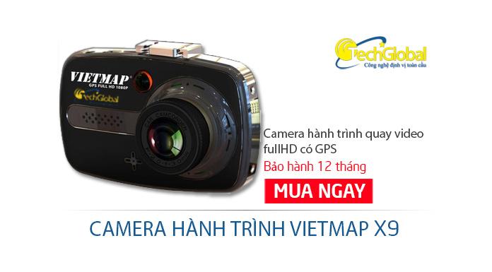 Camera hành trình Vietmap X9 có GPS