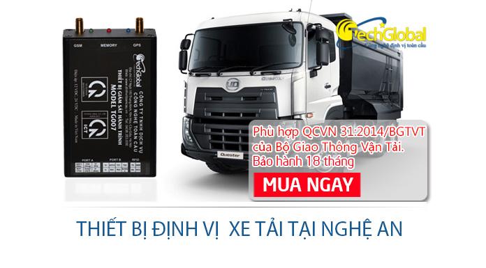 Lắp định vị xe tải tại Nghệ An