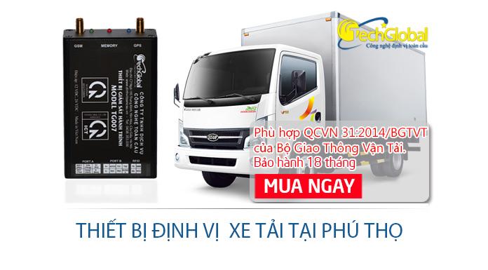 Lắp định vị xe tải tại Phú Thọ