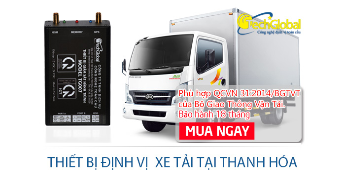 Lắp định vị xe tải tại Thanh Hóa