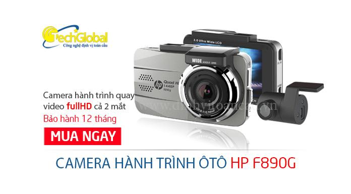 Camera hành trình HP F890G 2 mắt trước sau