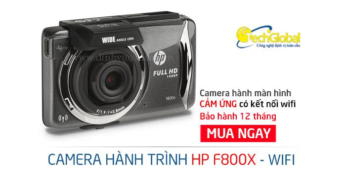 Camera hành trình HP F800X màn hình cảm ứng có Wifi