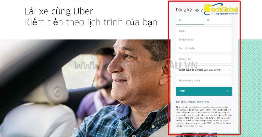 Hướng dẫn chi tiết các bước đăng ký để lái xe uber taxi