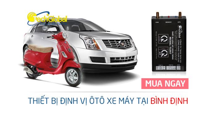 Thiết bị định vị tại Bình Định gắn cho xe ôtô xe máy