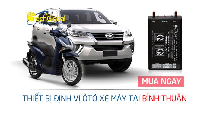 Thiết bị định vị tại Bình Thuận gắn cho xe máy ôtô