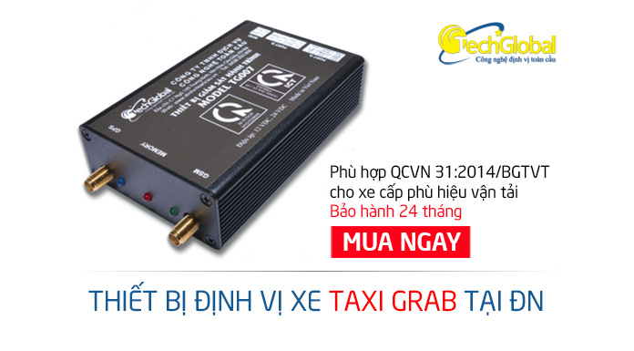 Gắn định vị xe taxi grab tại Đà Nẵng