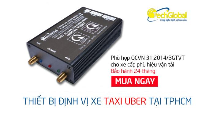 Gắn định vị xe taxi uber tại TPHCM