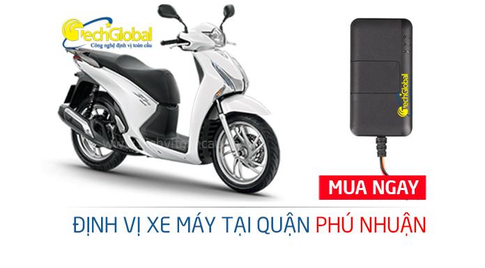 Gắn định vị xe máy tại quận Phú Nhuận TPHCM