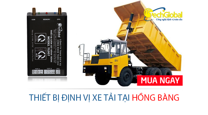 Lắp định vị xe tải tại Hồng Bàng Hải Phòng