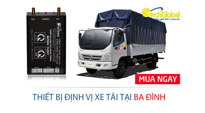 Lắp định vị xe tải tại Ba Đình Hà Nội