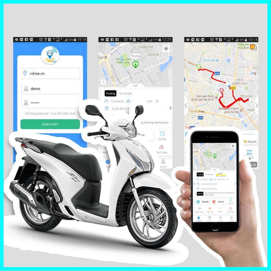 Lắp thiết bị định vị xe máy giúp quản lý giám sát hành trình xe ngay trên điện thoại
