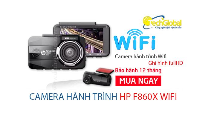 Camera hành trình HP F860X tích hợp Wifi, cảm biến ảnh Sony sắc nét
