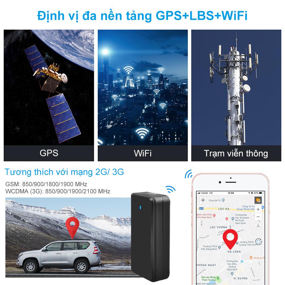 Định vị đa nền tảng sóng GPS, Wifi, Trạm viễn thông