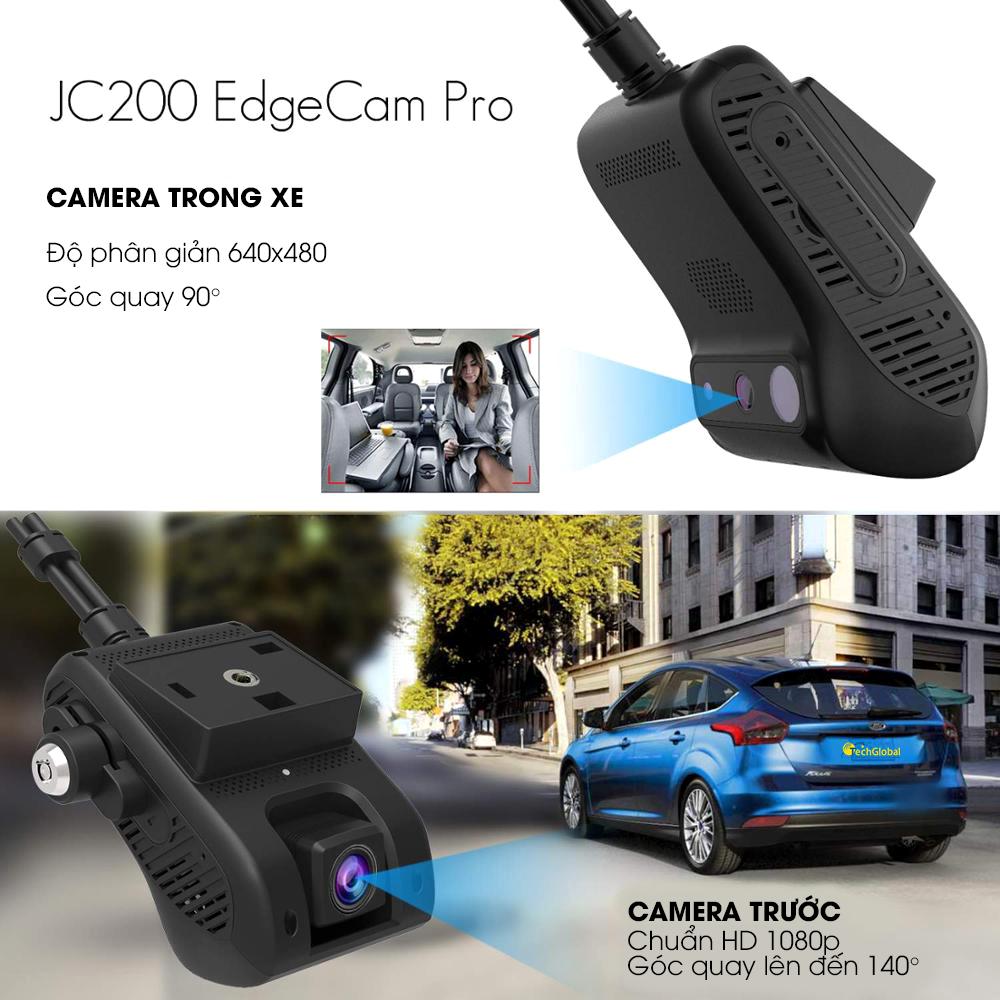 Camera hành trình JC200 của TechGlobal hỗ trợ ghi hình trước và trong xe cùng lúc