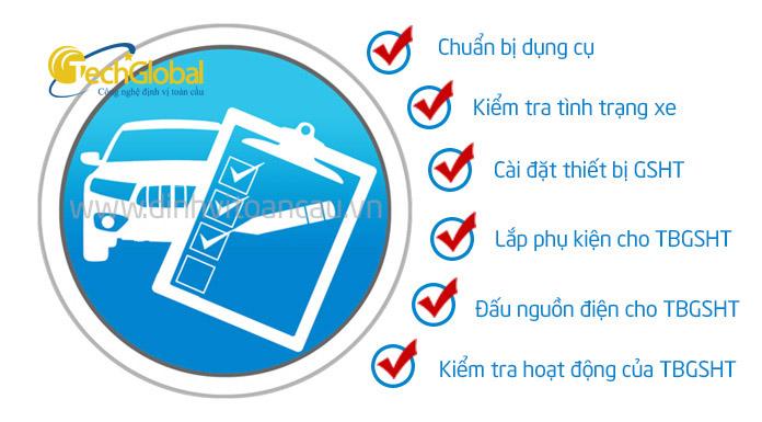 6 bước lắp thiết bị giám sát hành trình TG007 đơn giản