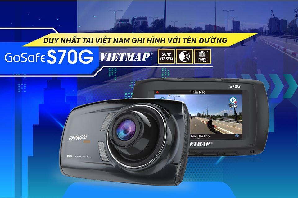 S70G là Camera hành trình duy nhất ghi hình với tên đường