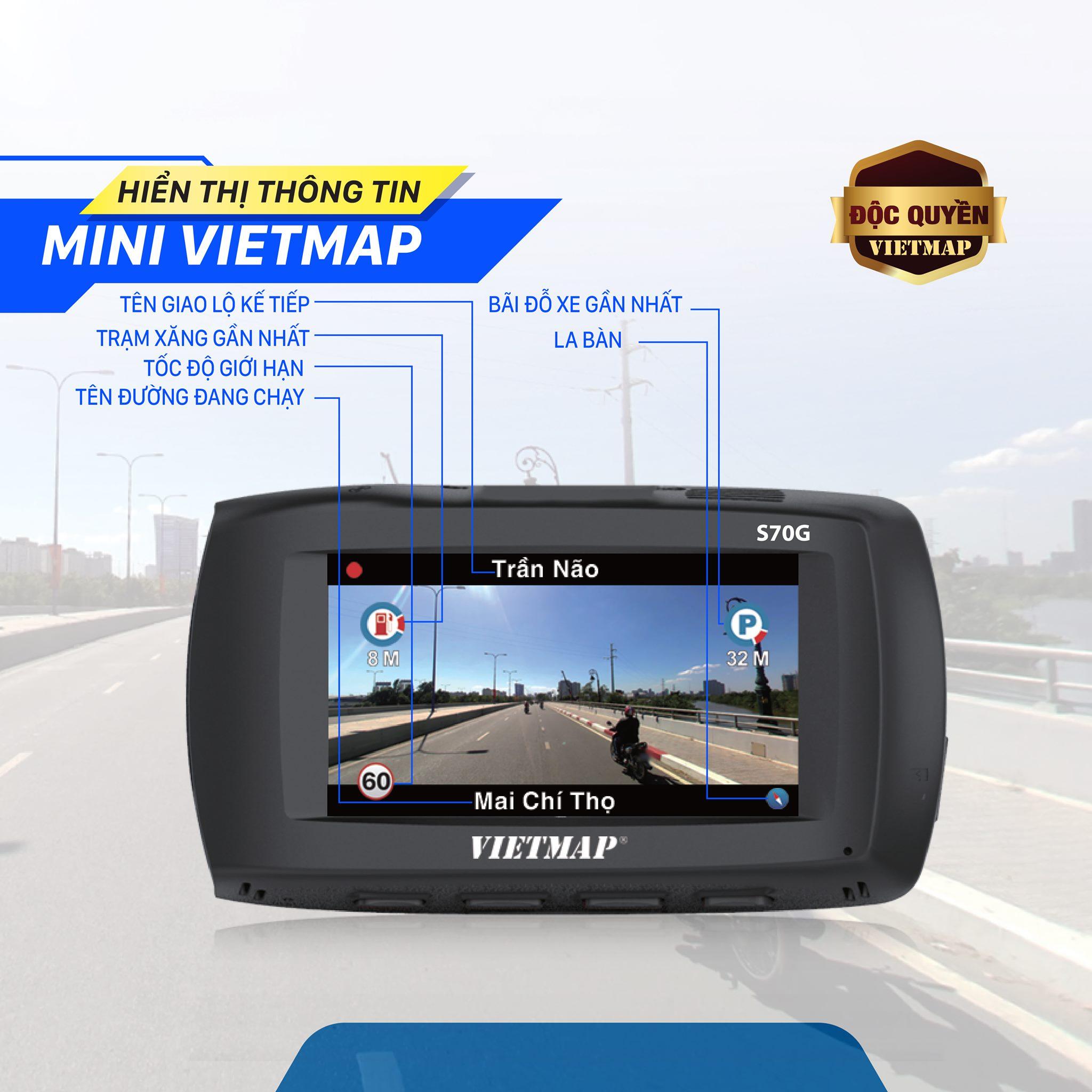 Tính năng độc quyền Mini Vietmap tích hợp trên S70G