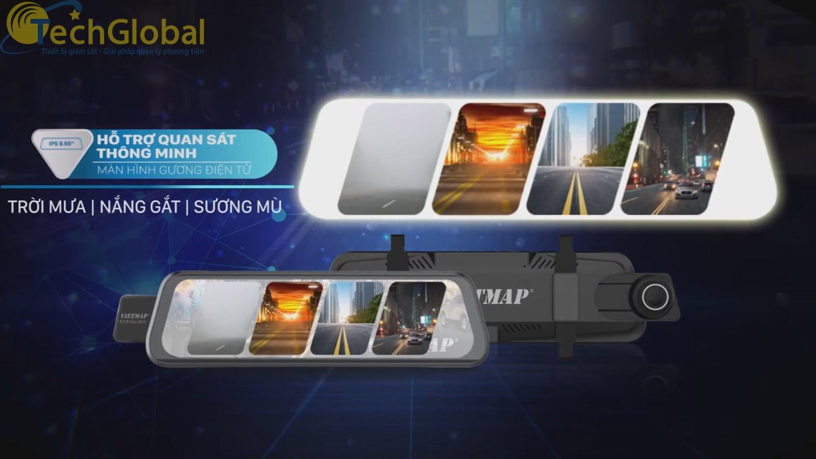Màn hình Gương điện tử hỗ trợ quan sát toàn cảnh sau xe trong mọi thời tiết.