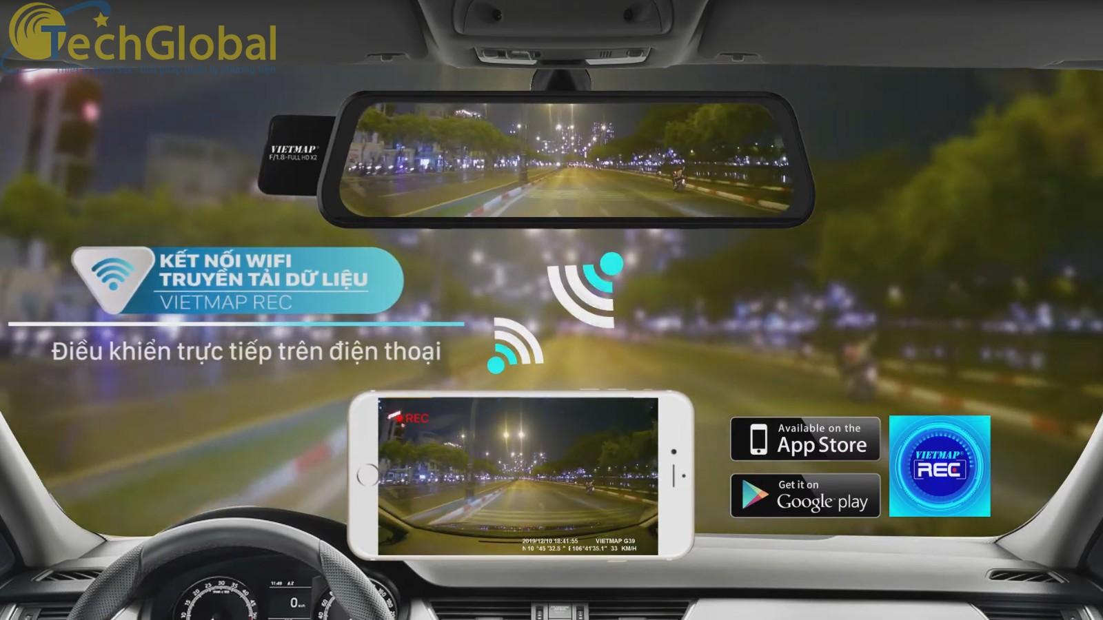 Kết nối WIFI giúp xem - tải - chia sẻ video trực tiếp ngay trên điện thoại