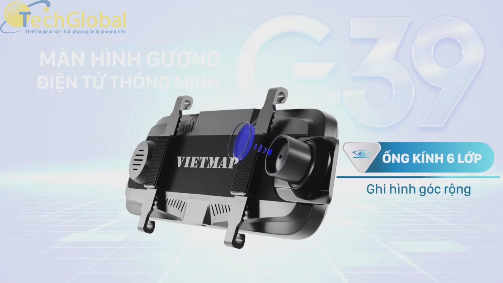 Camera Hành Trình Vietmap G39 có ống kính 6 lớp