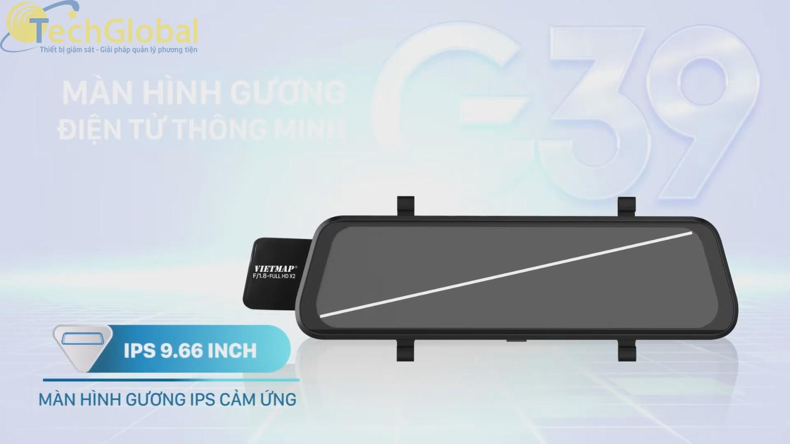 Camera Hành Trình Vietmap G39 có màn hình rộng nhất từ trước đến nay