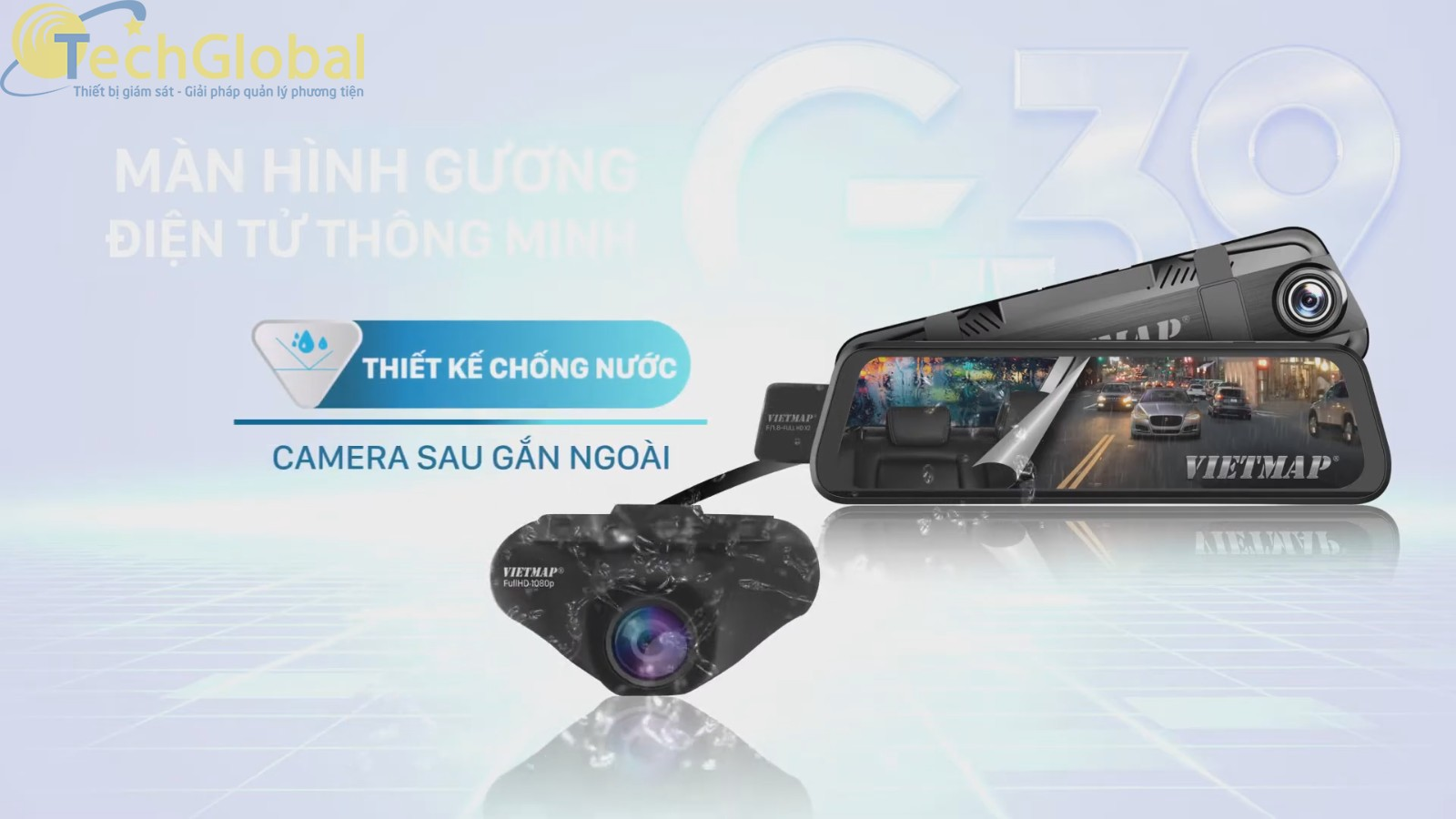 Camera sau của G39 có chức năng chống nước tuyệt đối và ghi hình Full HD