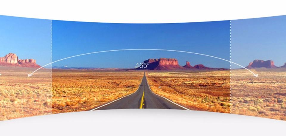 Xiaomi Yi 2k có góc quay rộng tới 165 độ ghi rõ 3 làn đường