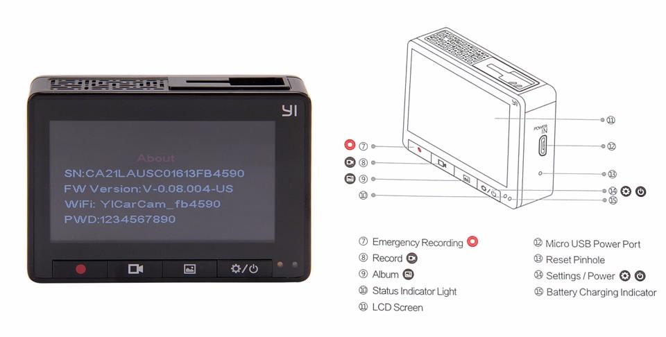 Xiaomi Yi 2k có thiết kế các nút bấm khoa học và đẹp mắt