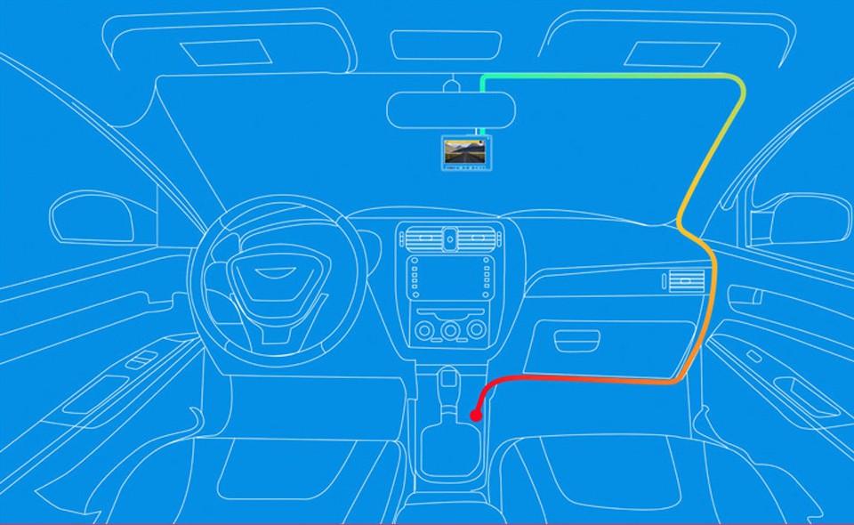 Cách đi dây lắp đặt Xiaomi Yi 2k trong ô tô