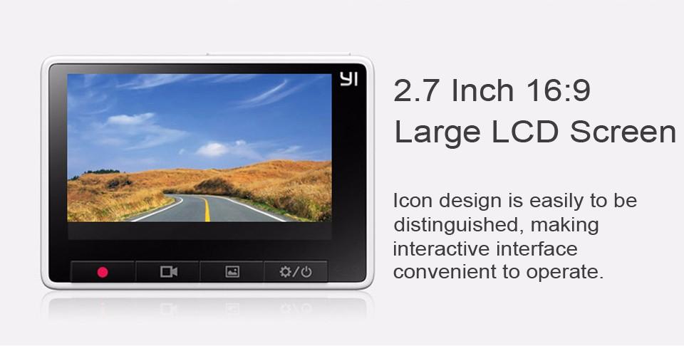 Xiaomi Yi 2k có màn hình rộng 2.7 inch và nút bấm ngang hàng dễ dàng thao tác