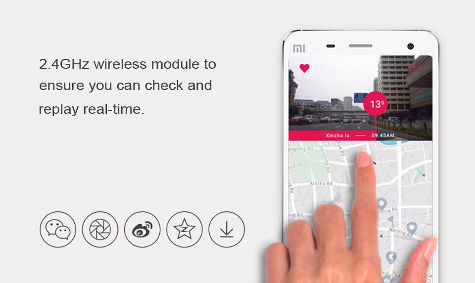 Yi 2k có kết nối Wifi không dây với điện thoại