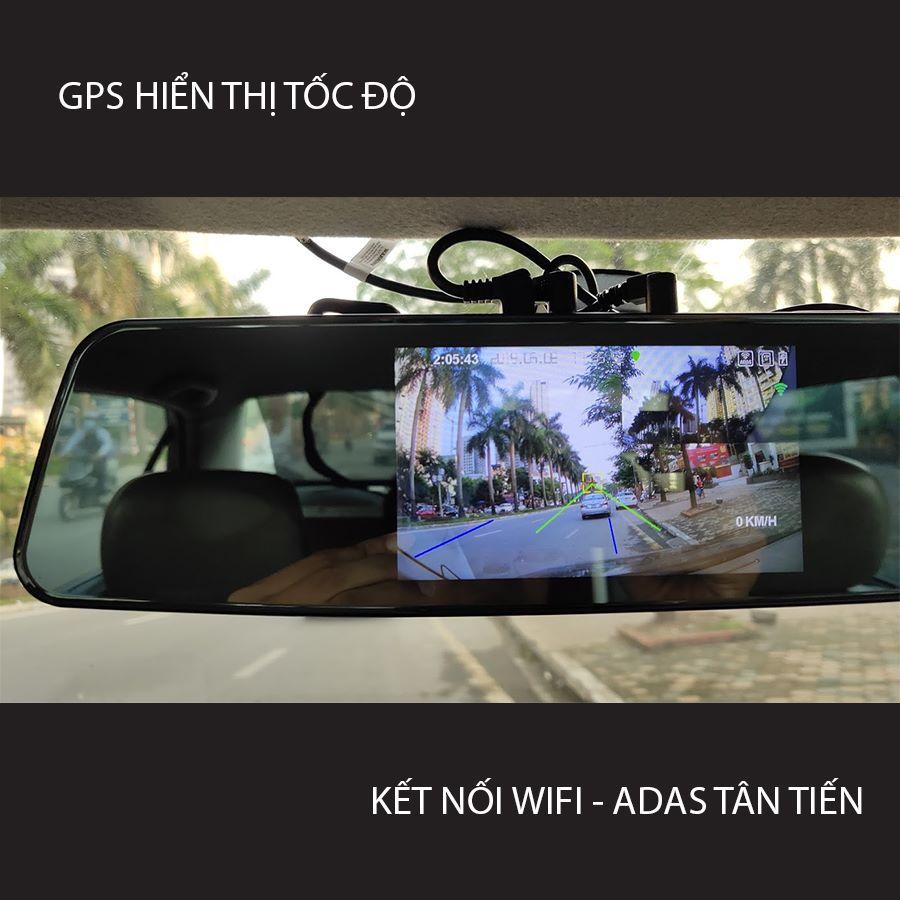 Camera hành trình gương G8+ ghi hình có tốc độ