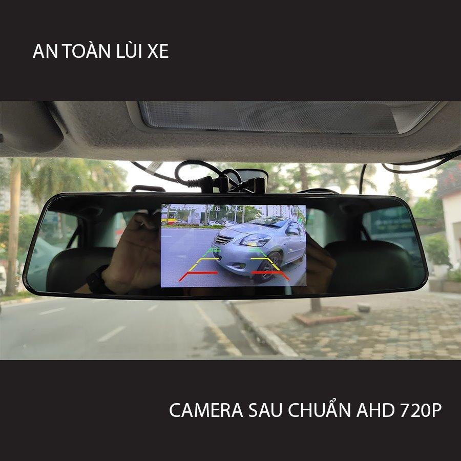 camera hành trình gương G8+ có kết nối cam lùi