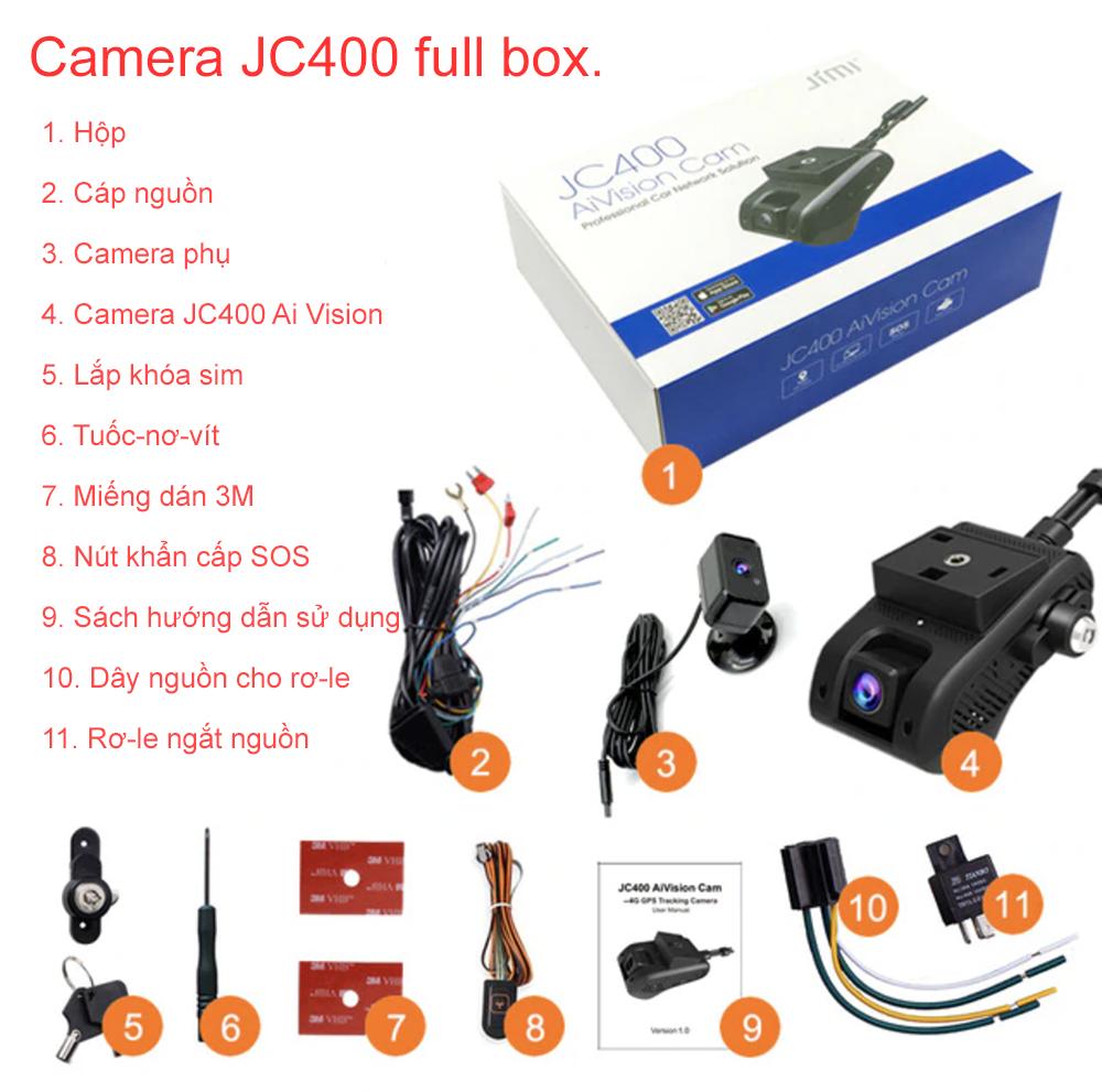 Hình ảnh fullbox Camera hành trình JC400