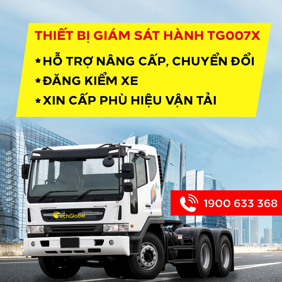 Lắp TG007X giúp đăng kiểm và xin phù hiệu vận tải