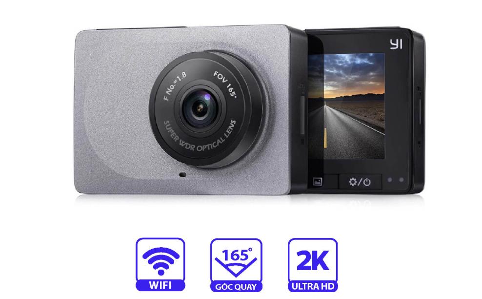 Camera hành trình Xiaomi Yi 2K Dash Cam - Góc quay 165 độ - Màn TFT 2.7 inch