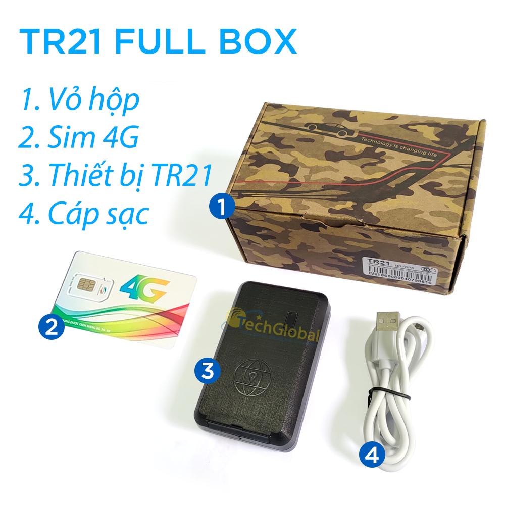 Hình ảnh thiết bị định vị không dây TR21 fullbox