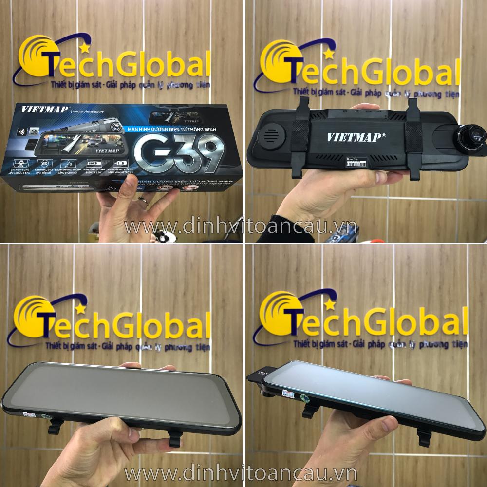 Hình ảnh camera hành trình gương vietmap g39 tại TechGlobal