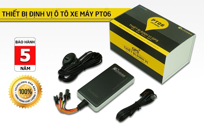 Thiết bị định vị ô tô PT06 có ngắt nguồn xe, nghe lén âm thanh