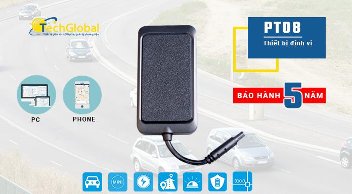 Thiết bị định vị xe máy PT08 hợp quy GSM, tắt máy từ xa