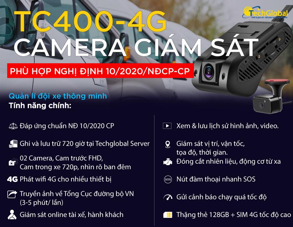 Tính năng của camera tc400 phù hợp nghị định 10
