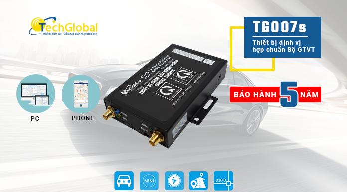 Thiết bị định vị ôtô TG007S - hợp chuẩn bộ GTVT