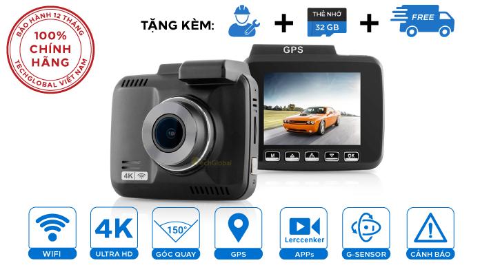 Camera hành trình W8 4K Wifi GPS