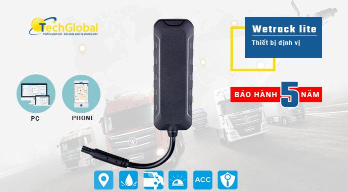 Thiết bị định vị xe máy Wetrack Lite hợp quy GSM, siêu nhỏ