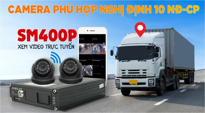 Camera Giám Sát Ô Tô Nghị Định 10 - Đầu Ghi SM400P - Xem Video Trực Tuyến