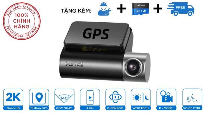 Camera Hành Trình 70mai Pro Plus A500 - Tích Hợp GPS Hiển Thị Tốc Độ