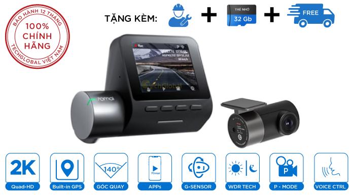 Camera Hành Trình Xioami 70mai A500S Ghi Hình Trước Sau